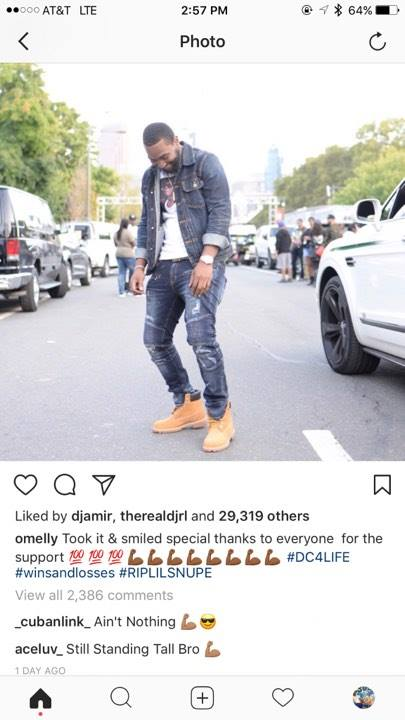 The Girl who reportedly set Omelly up commented on his latest Instagram post