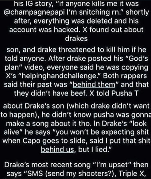Did Drake have XXXTentacion Killed Lyrics in new song suggest he did Pro inside - HipHopOverload.com