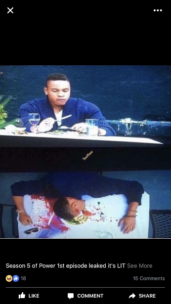 Power Season 5 photos leak Dre being shot in head at Dinner