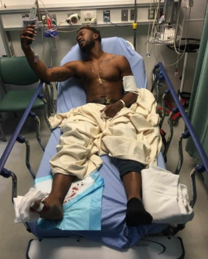 Kevin McCall shot in the foot by Chris Brown crew member recovering in hospital -