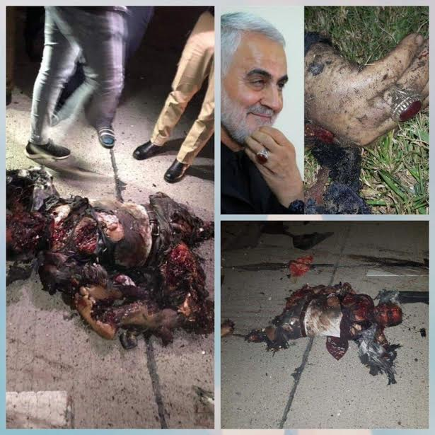 Graphic Photos released  Iranian general Qasem Soleimani blown up mangled body