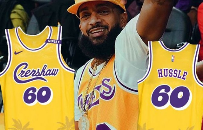 Los Angeles Lakers will honor Nipsey Hussle with special Crenshaw Lakers Jersey