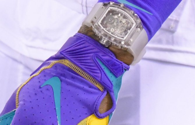 Odell Beckham Jr exposed for wearing a fake $2 Million dollar Richard Mille watch during Monday night football