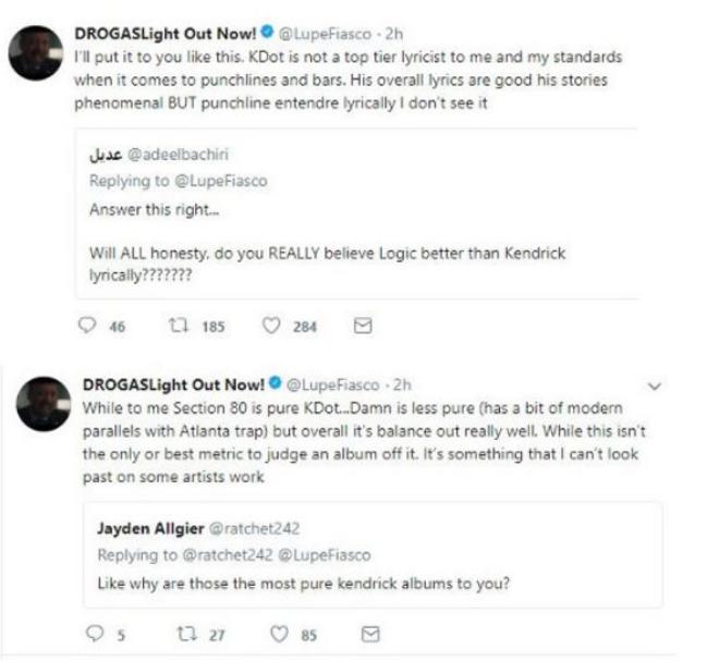 Lupe Fiasco accuses Kendrick Lamar  biting his album cover & TDE President responds - HipHopHotness.com