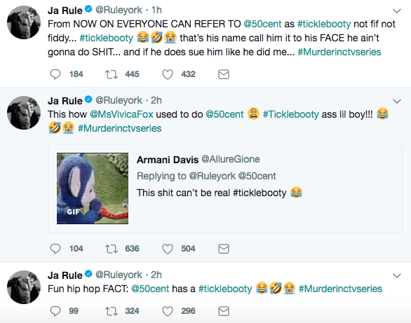 Ja Rule calls 50 Cent a Pussy says 50 likes his booty hole played with by men -