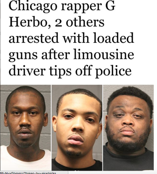 G Herbo is suing the driver he hired who told police they had guns on them - HipHopHotness.com