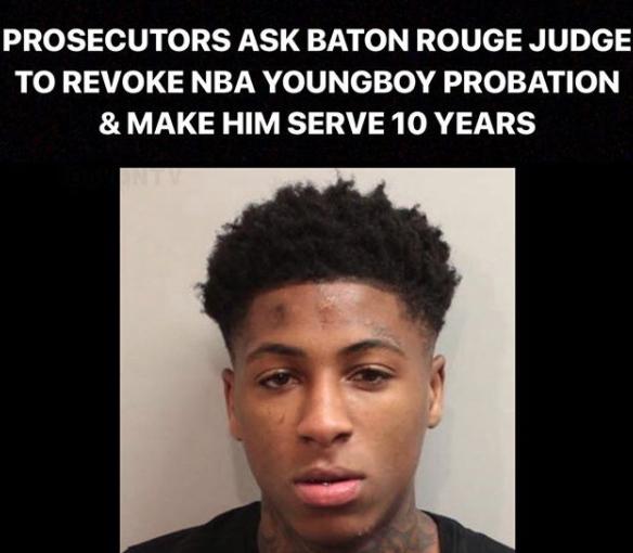 Prosecutor ask Baton Rouge Judge to revoke NBA YoungBoy probation and make him serve 10 year prison sentence - HipHopHotness.com