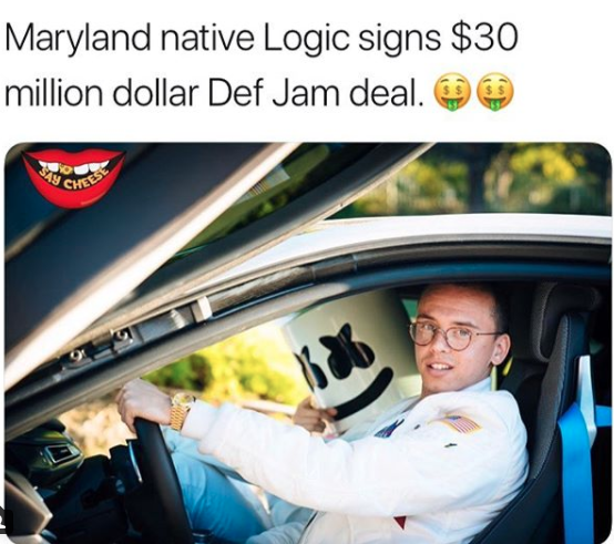 Logic signs $30 Million Dollar deal with Def Jam -