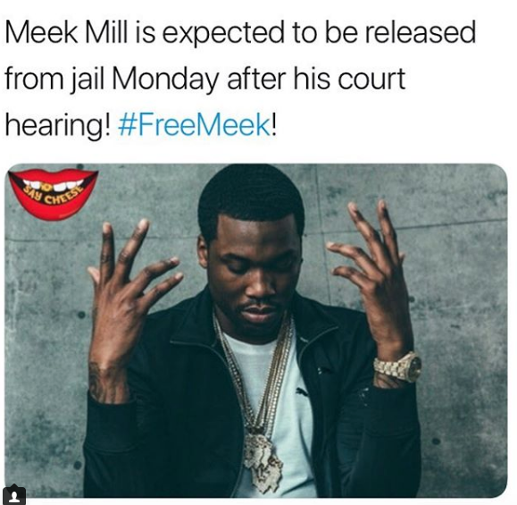 Meek Mill is expected to be released from jail Monday April 16th after his court hearing - HipHopHotness.com