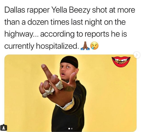 Popular Dallas rapper Yella Beezy shot 8 times and is currently hospitalized - HouseMusicHits