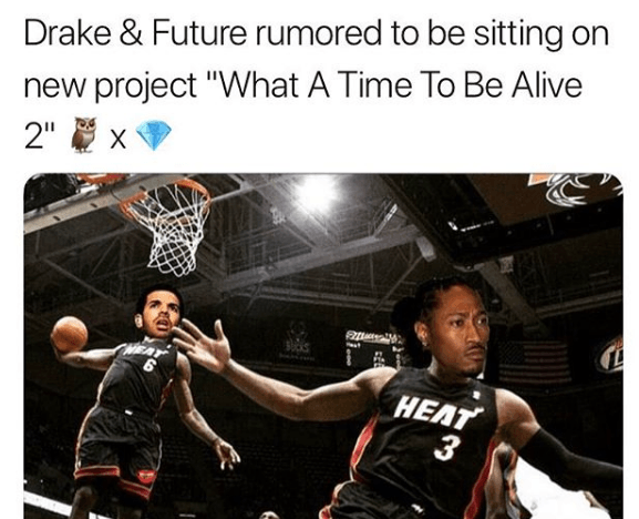 "Drake & Future hint at releasing ""What a Time to be Alive 2"" before March Madness"