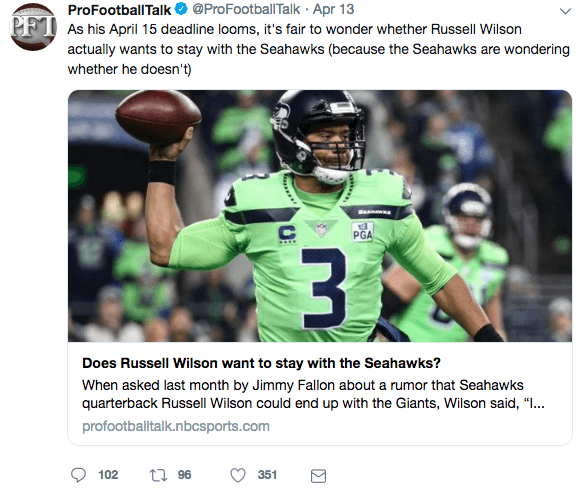 Russell Wilson demands Seattle Seahawks trade him to the New York Giants for his wife Ciara career