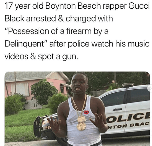 Popular Florida rapper Gucci Black arrested for Guns after police kick his Mom's door in for guns in video
