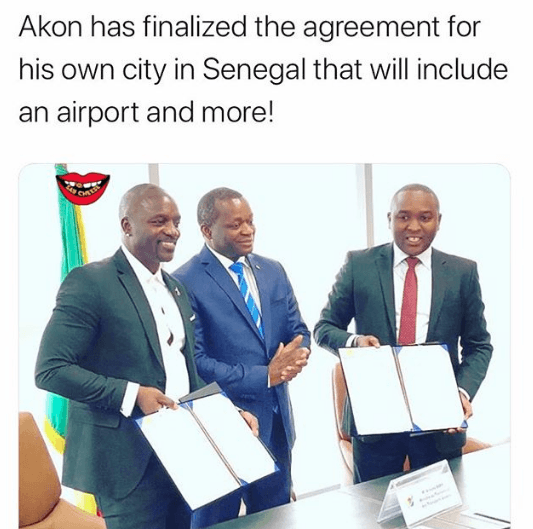 Akon just invested $300 Million to start Akon City in Senegal, Africa with its own Airport