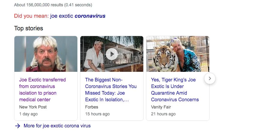 Tiger King Joe Exotic sent to prison medical center because he now has the CoronaVirus aka Covid19