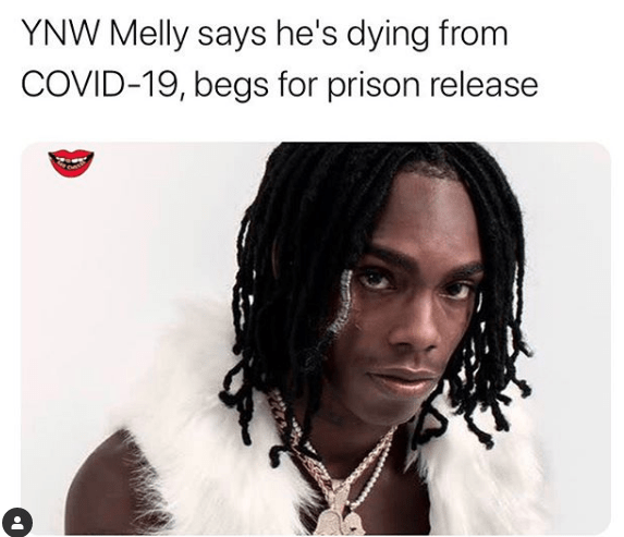YNW Melly Lawyer says he is dying in jail from Covid19 aka CoronaVirus YNW Melly only weighs 114 pounds now