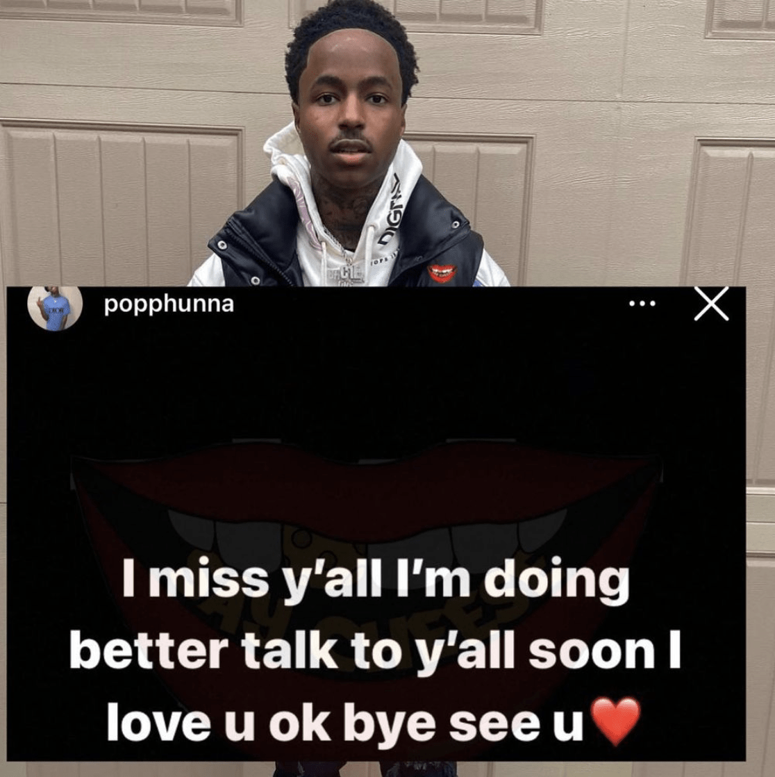 Verified #Popphunna let's his fans know he's doing well after he made serval concerning posts a few weeks ago. 18h bigbuccs_don's profile picture bigbuccs_don Nigga got in that corvette - HipHopOverload.com