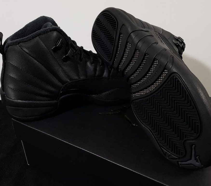 "buy online 6536f abeb2 First Look At The Air Jordan 12 Winterized ""Triple Black ..."