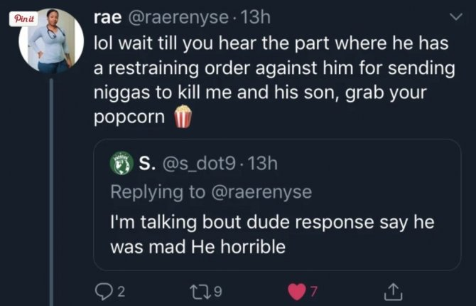 Freddie Gibbs baby Mama claims he sent goons to kill her and she has pro