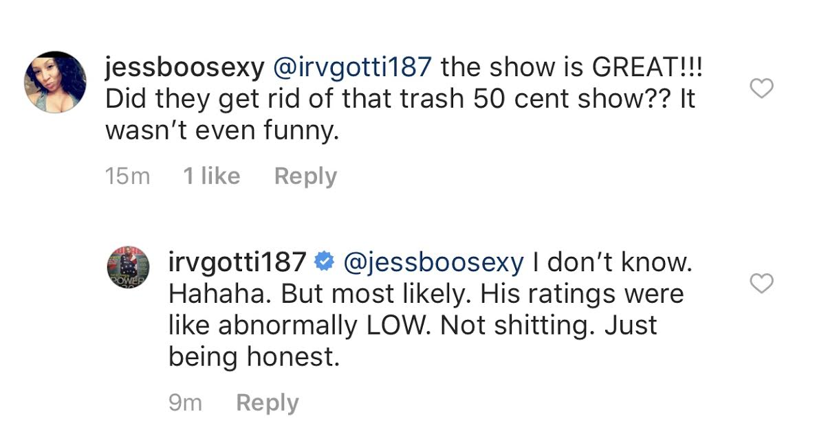 """Irv Gotti clowns 50 Cent for his show """"50 Central"""" getting canceled by BET after just 1 season - HipHopHotness.com"""